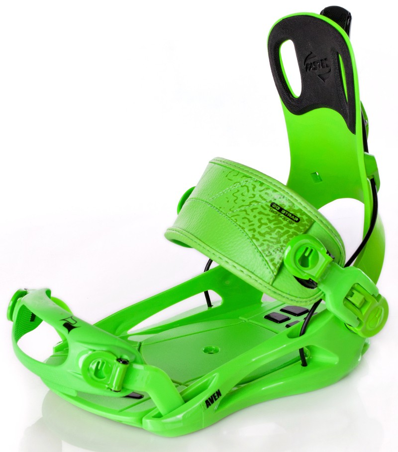Snowboard vázání Raven Fastec FT green