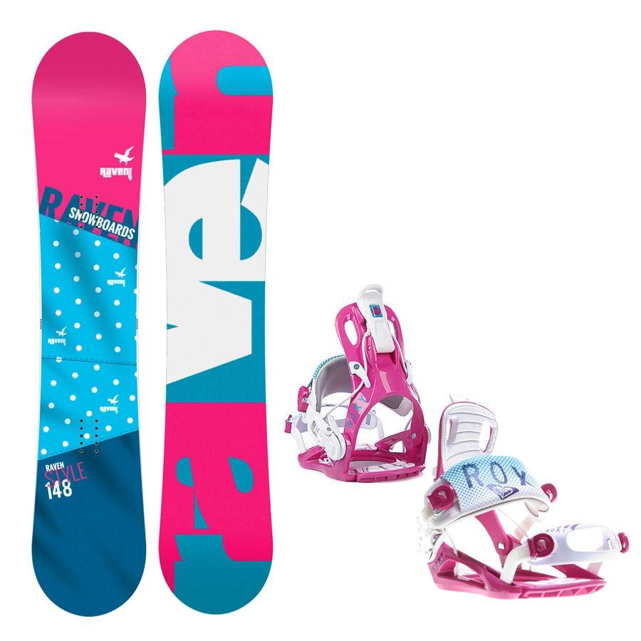 Snowboard komplet Raven Style + vázání Roxy