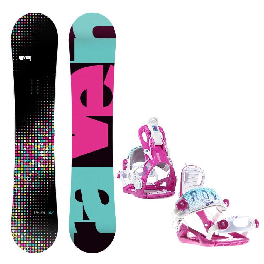 Snowboard komplet Raven Pearl + vázání Roxy