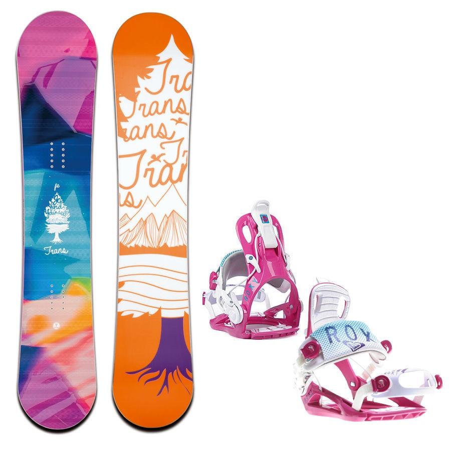 Snowboard komplet Trans FE + vázání Roxy