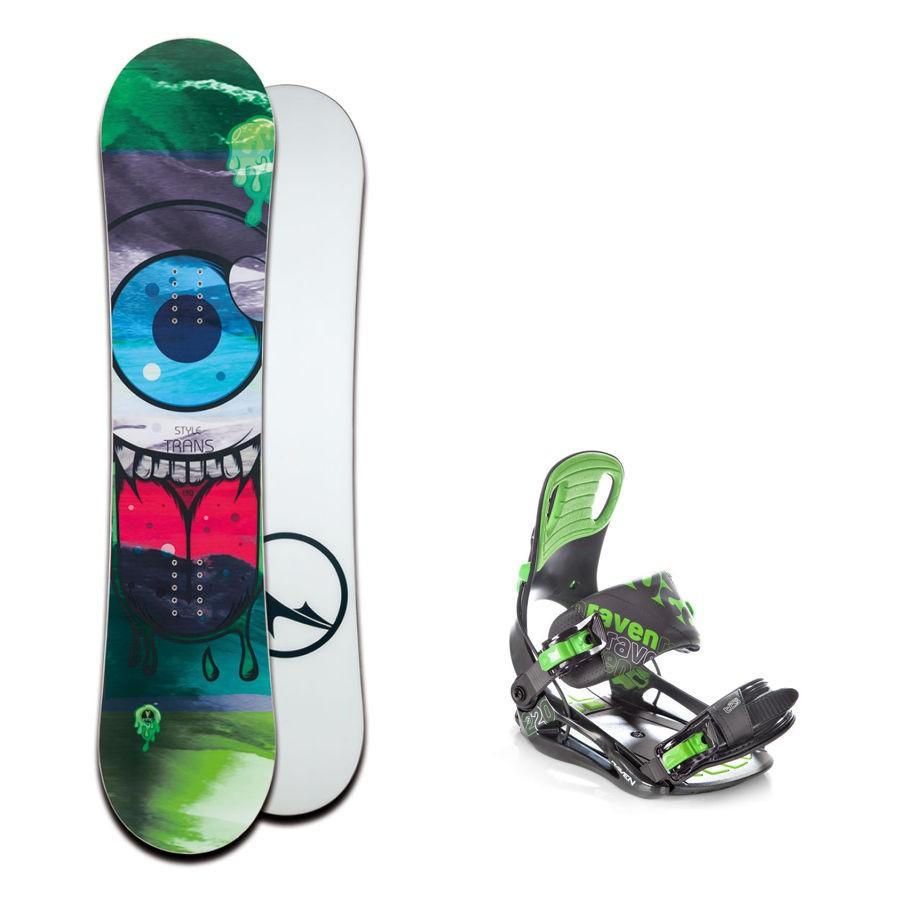 Dětský snowboard komplet Trans Style + vázání Raven