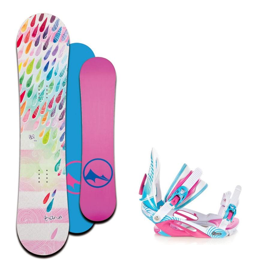 Dětský snowboard komplet Trans LTD drops + vázání Raven