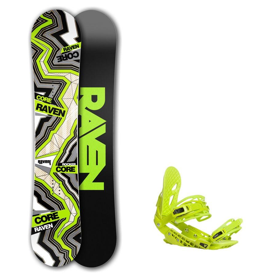 Snowboard komplet Raven Core carbon + vázání Gravity