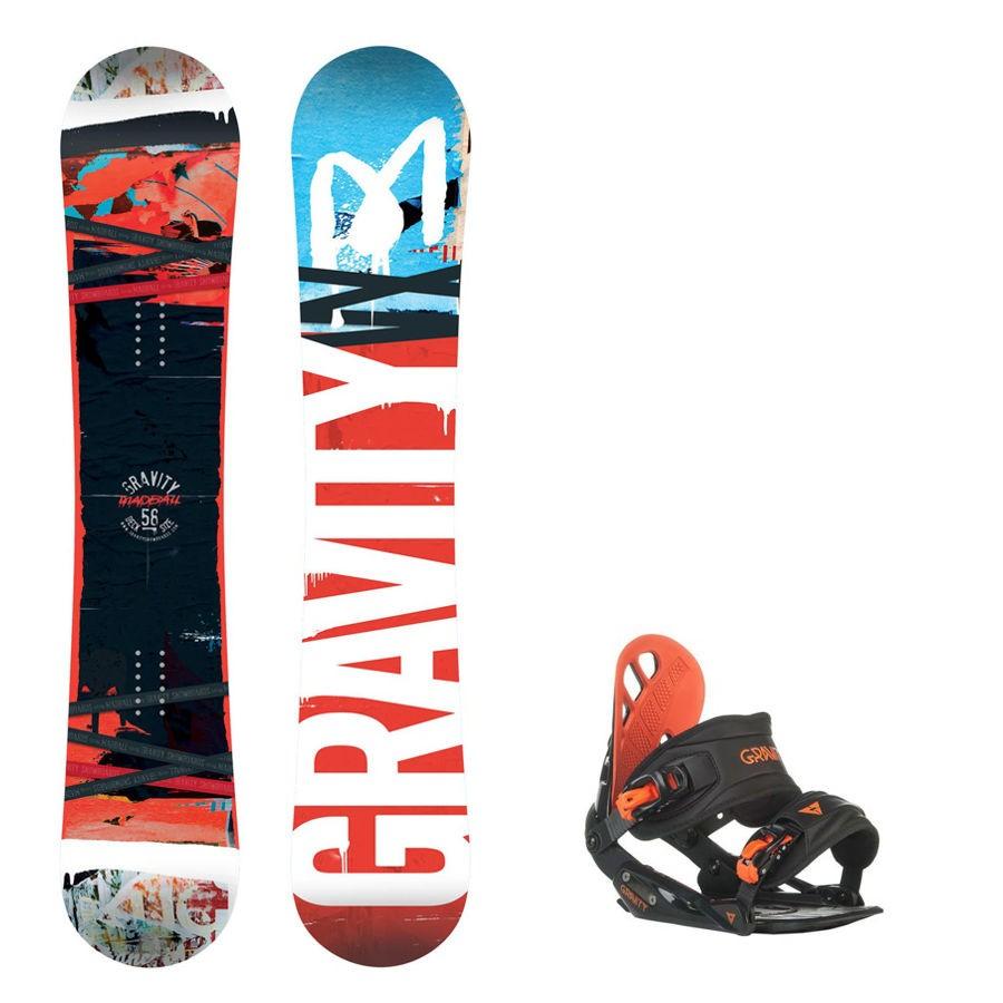 Snowboard komplet Gravity Madball + vázání Gravity