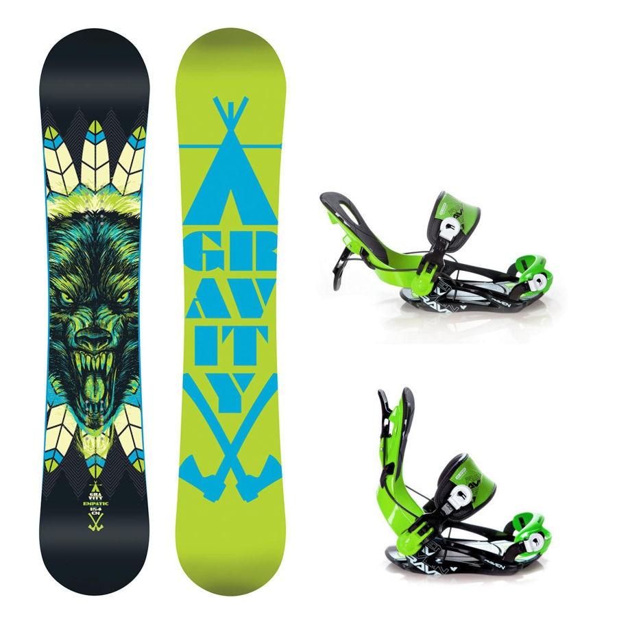 Snowboard komplet Gravity Empatic+ vázání Raven Fastec