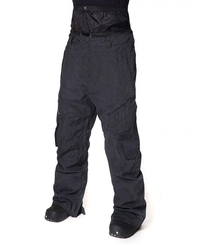 Snowboard kalhoty Horsefeathers Commander washed black