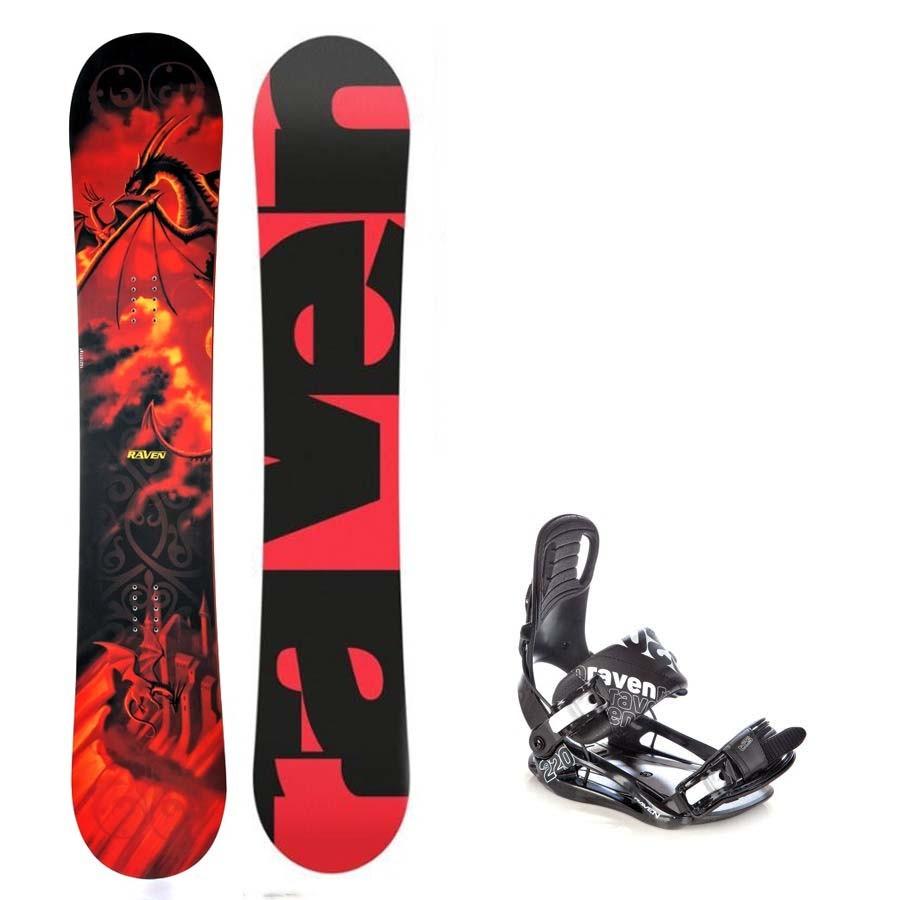 Snowboard Raven Dradon + vázání s220
