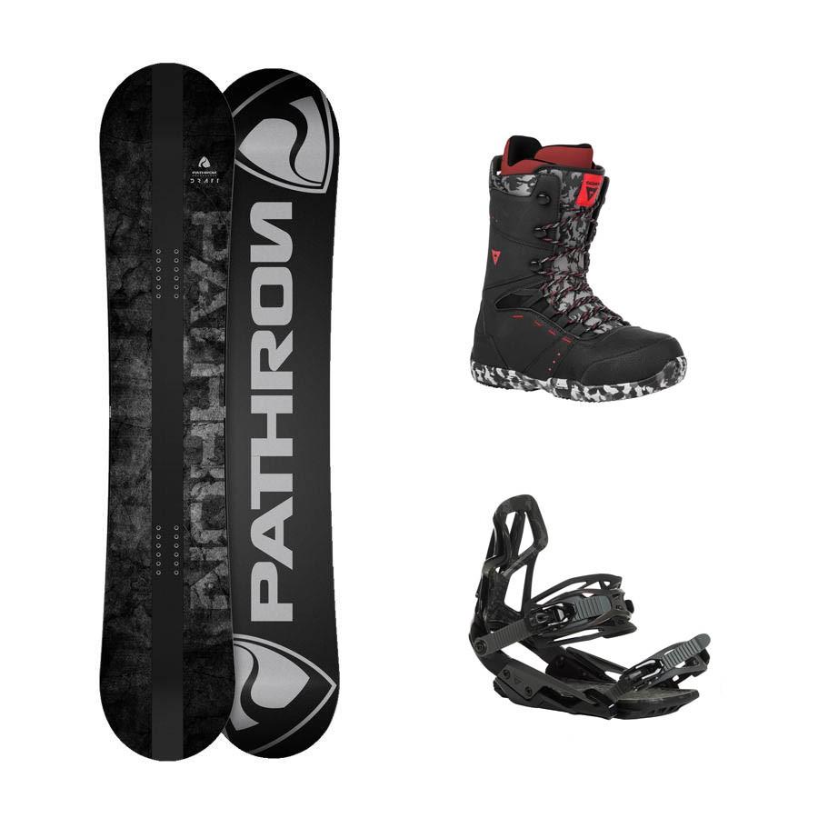 Snowboard komplet Pathron Draft + vázání + boty