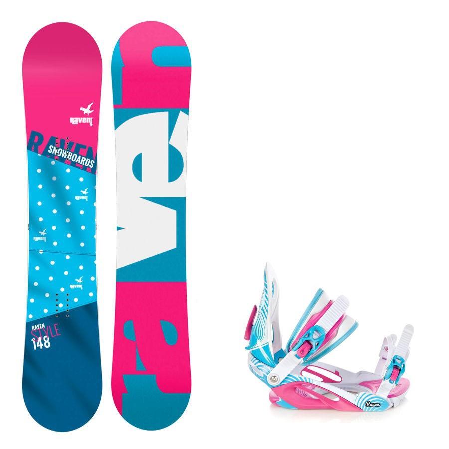 Snowboard komplet Raven Style + vázání Heart