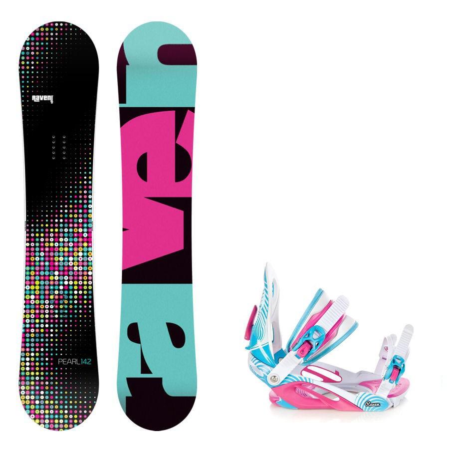 Snowboard komplet Raven Pearl + vázání Heart