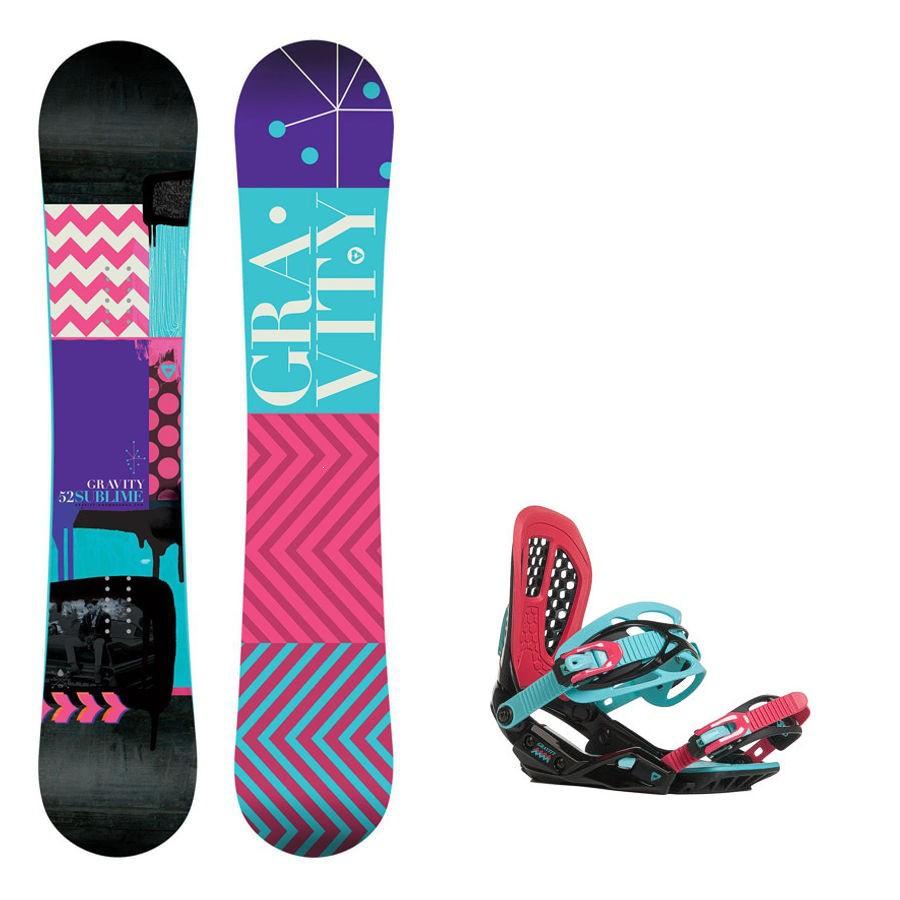 Snowboard komplet Gravity Sublime + vázání G3