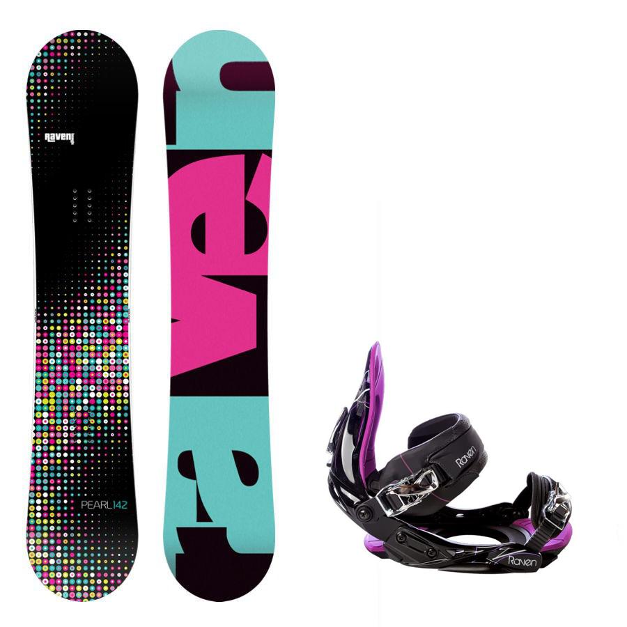 Snowboard komplet Raven Pearl + vázání s350
