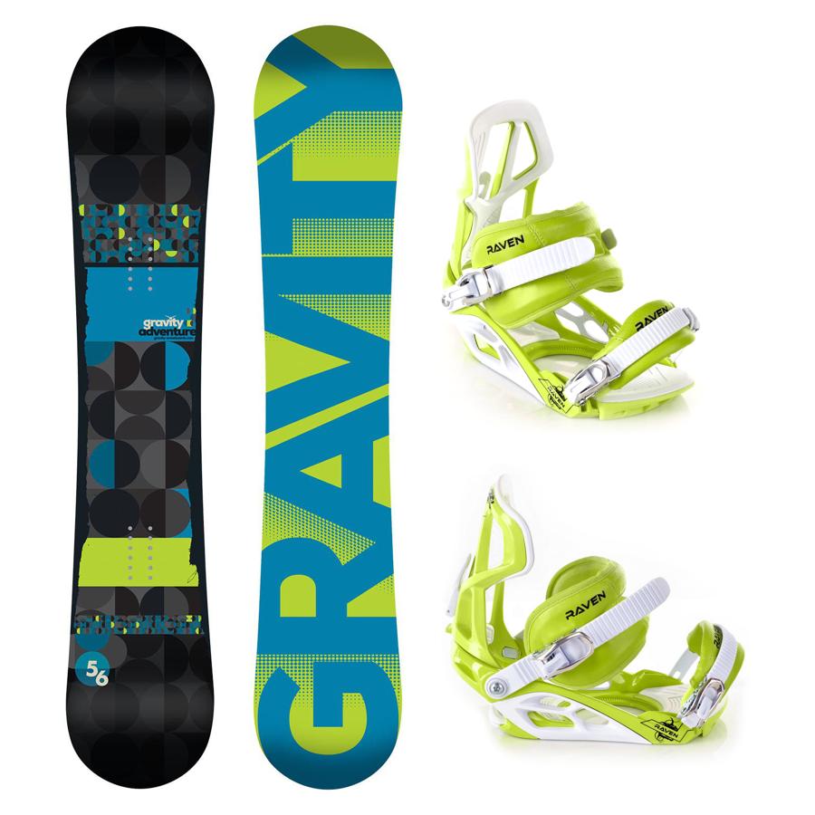 Snowboard komplet Gravity Adventure + vázání S750