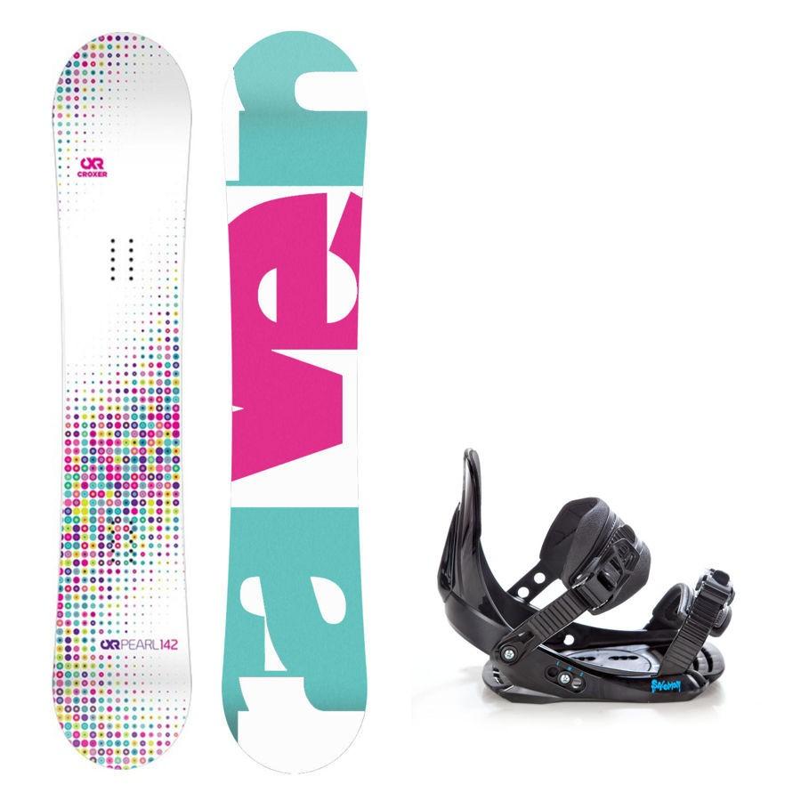 Dětský snowboard komplet Raven Pearl + vázání Salomon