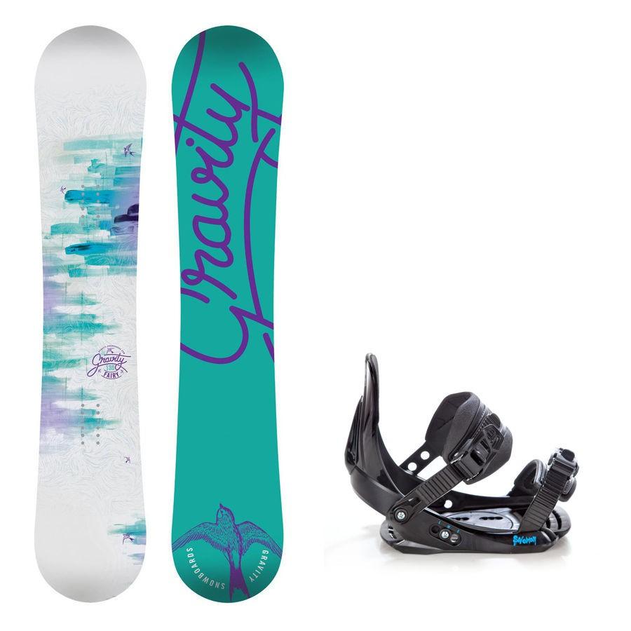 Dětský snowboard komplet Gravity Fairy + vázání Salomon