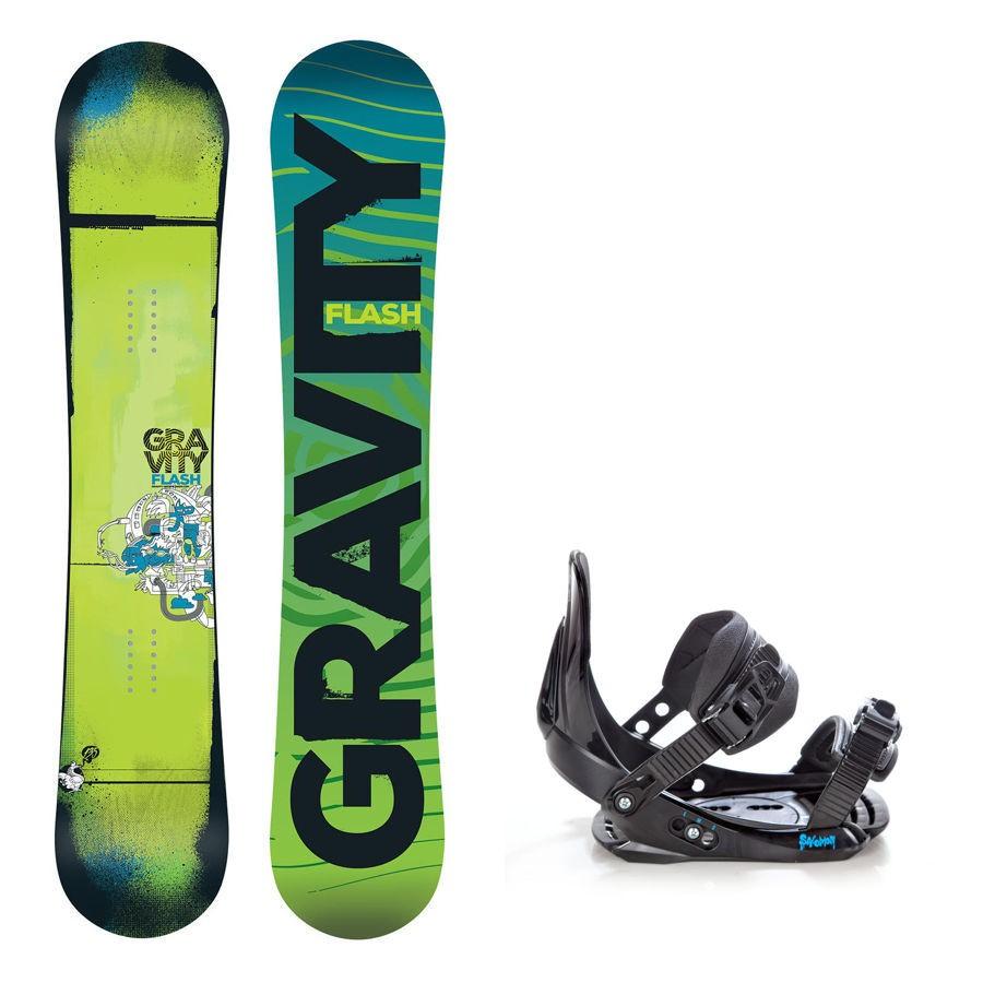 Dětský snowboard komplet Gravity Flash + vázání Salomon