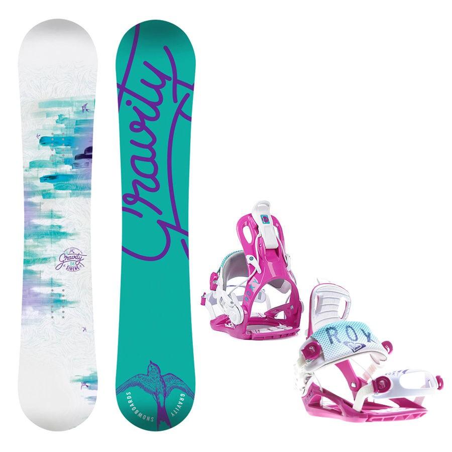 Dětský snowboard komplet Gravity Fairy + vázání Roxy