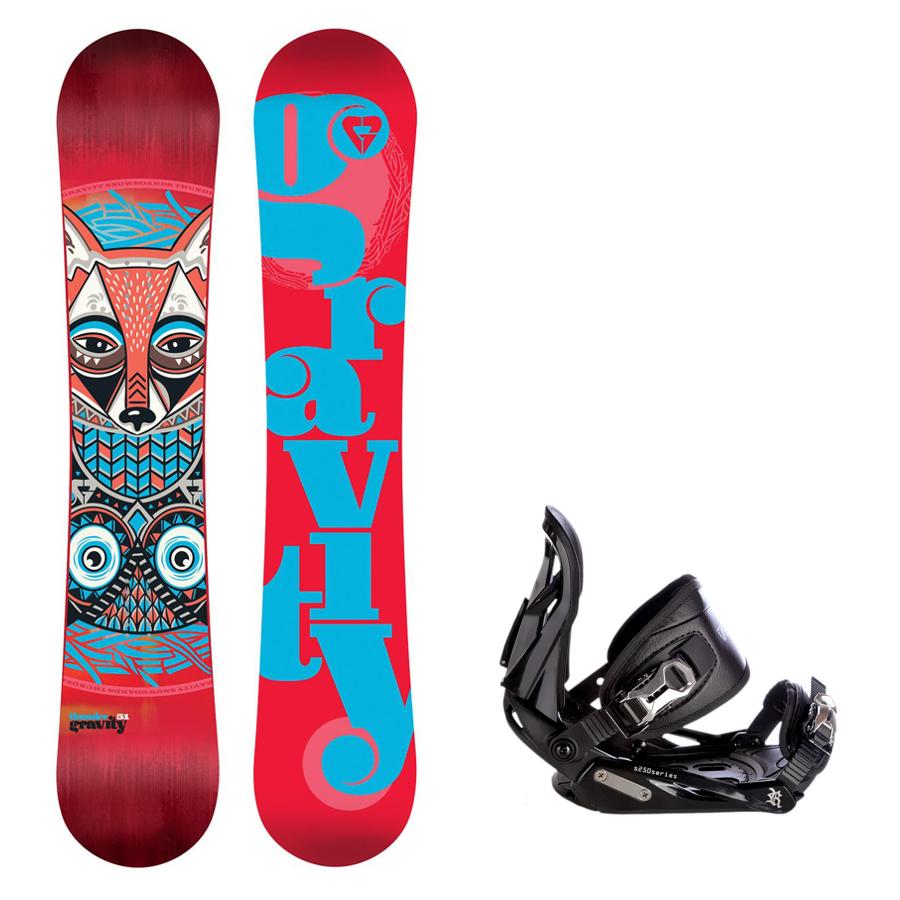 Snowboard komplet Gravity Thunder + vázání S250