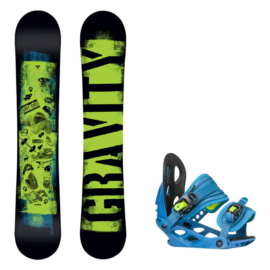 730bfbb56b Dětský snowboard komplet Gravity Flash 17 18 + vázání G1jr ...