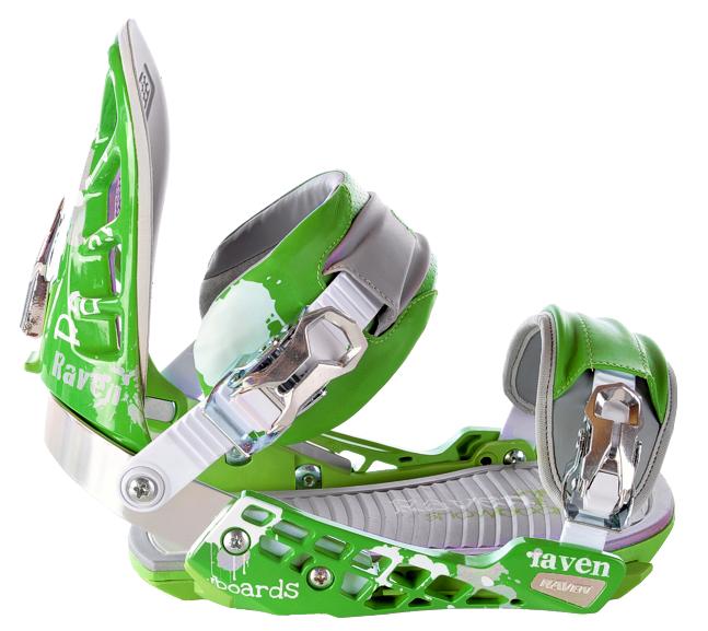 Snowboard vázání Raven s600 green