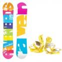 Snowboard komplet Raven Infinity + vázání Roxy Rockit yellow