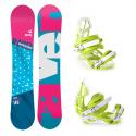 Snowboard komplet Raven Style + vázání S750