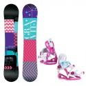Snowboard komplet Gravity Sublime + vázání Roxy