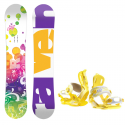 Dětský snowboard komplet Raven Lucy + vázání Roxy