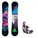 Snowboard komplet TRANS FE 17/18 + vázání Raven