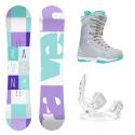 Snowboard komplet Raven Laura + vázání Raven Luna + boty Aura