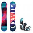 Snowboard komplet Gravity Thunder 18/19 + vázání Starlet black/mint