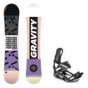 Snowboard komplet Gravity Voayer 18/19 + vázání Raven s220