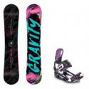 Snowboard komplet Gravity Sublime 18/19 + vázání Starlet black/violet