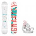 Snowboard komplet Gravity Mist 18/19 + vázání G1 white