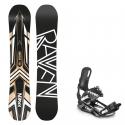 Snowboard komplet Raven Decade wood + vázání S220