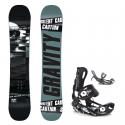 Snowboard komplet Gravity Silent 18/19 + vázání Fastec