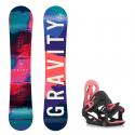Dětský snowboard komplet Gravity Fairy 18/19 + vázání G1jr