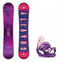 Snowboard komplet Gravity Trinity + vázání G2 17/18
