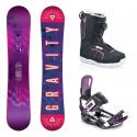 Snowboard komplet Gravity Trinity + vázání Starlet + boty Diva atop