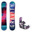Snowboard komplet Gravity Thunder 18/19 + vázání Starlet black/violet