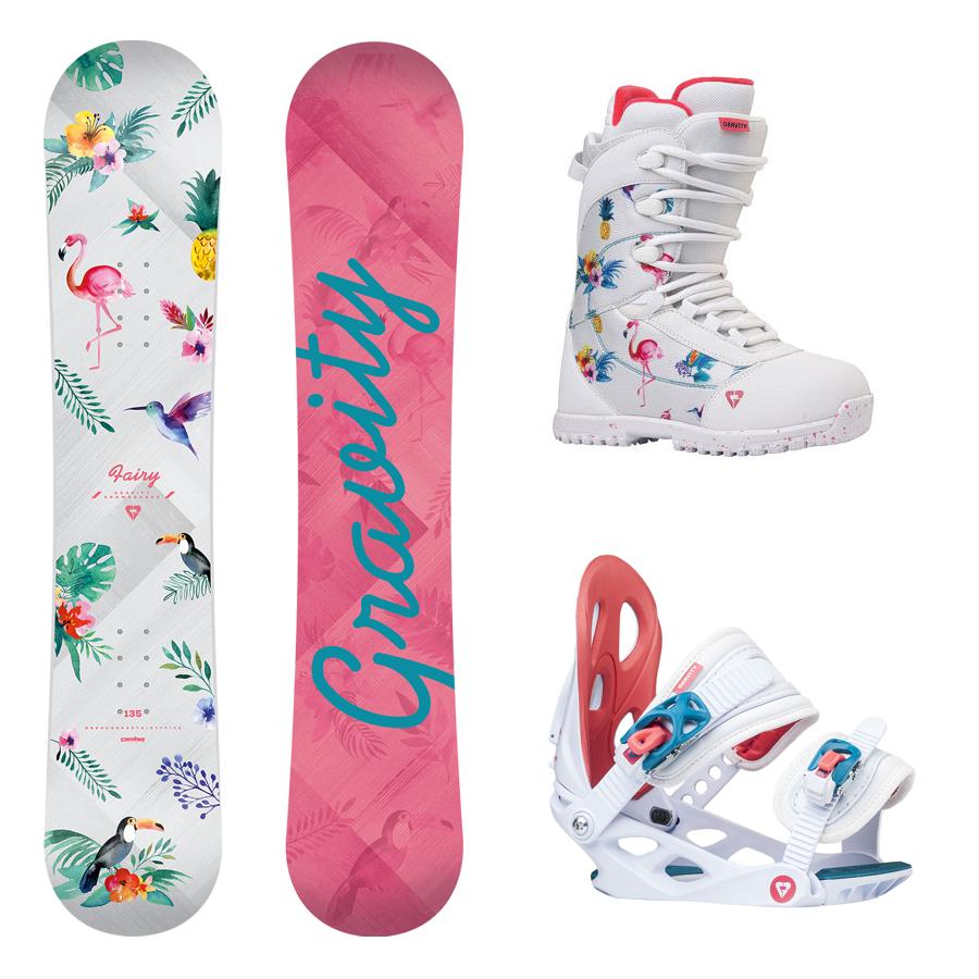 162a80718e Dětský snowboard komplet Gravity Fairy 17 18