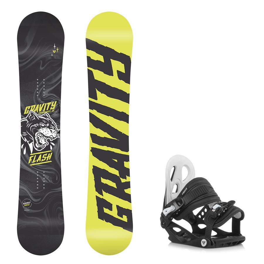 82d53177e0 Dětský snowboard komplet Gravity Flash 18 19 + vázání G1jr ...