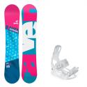 Snowboard komplet Raven Style + vázání Luna