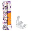 Snowboard komplet Raven Grid white + vázání Luna