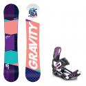 Snowboard komplet Gravity Electra 18/19 + vázání Starlet black/violet