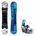 Snowboard komplet Gravity Trinity 18/19 + vázání Starlet black/mint