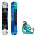 Snowboard komplet Gravity Trinity 18/19 + vázání G1 green