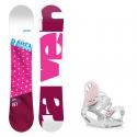 Snowboard komplet Raven Style pink + vázání G1