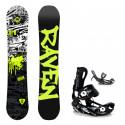 Dětský snowboard komplet Raven Core + vázání Fastec