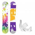Dětský snowboard komplet Raven Lucy + vázání SP